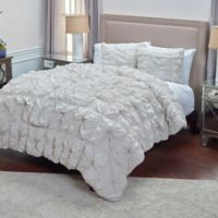 Rizzy Home Soft Dreams Twin Comforter Set in Brown
