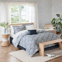 Madison Park Sia 7-Piece Reversible Twin Comforter Set in Navy