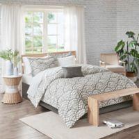 Madison Park Sia 9-Piece Reversible California King Comforter Set in Grey
