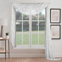 Stella Sheer Window Scarf Valance in Grey
