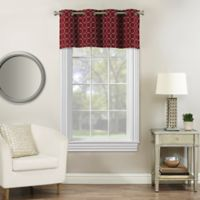Rings Circle Embroidered Window Valance in Berry
