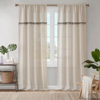 Madison Park Dalis 63-Inch Rod Pocket Window Curtain Panel in Natural