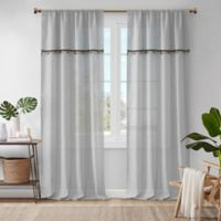 Madison Park Dalis 84-Inch Rod Pocket Window Curtain Panel in Grey