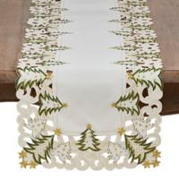 Saro Lifestyle Pandoro 68-Inch Table Runner in Ivory
