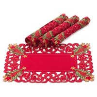 Saro Lifestyle Pandoro Placemats in Red (Set of 4)