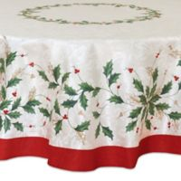 Lenox® Holiday Holly 70-Inch Round Tablecloth in Ivory