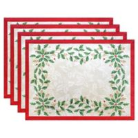 Lenox® Holiday Holly Placemat in Ivory