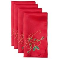 Lenox® Holiday Nouveau Cutwork Napkins in Red (Set of 4)
