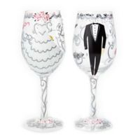 Lolita Bride and Groom Wine Glasses (Set of 2)