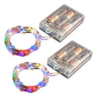 Battery Operated LED Waterproof Mini String Lights with Timer
