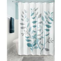 iDesign® Laurel 72-Inch Fabric Shower Curtain in Blue/Green
