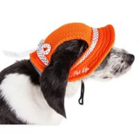Sea Spot Medium Mesh Brimmed Pet Hat in Orange