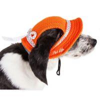 Sea Spot Large Mesh Brimmed Pet Hat in Orange