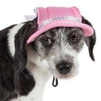 Sea Spot Large Mesh Brimmed Pet Hat in Pink