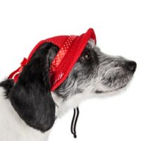 Sea Spot Large Mesh Brimmed Pet Hat in Red