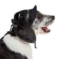 Sea Spot Large Mesh Brimmed Pet Hat in Black