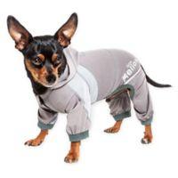 Helios Namastail Yoga Extra-Small Dog Tracksuit in Grey
