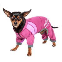 Helios Namastail Yoga Medium Dog Tracksuit in Pink