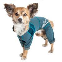 Helios Namastail Yoga Medium Dog Tracksuit in Blue