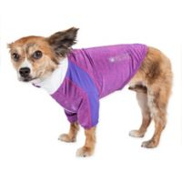 Chewitt Wagassy Extra-Small Triple-Toned Long Sleeve Performance Dog T-Shirt in Purple