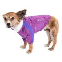 Chewitt Wagassy Medium Triple-Toned Long Sleeve Performance Dog T-Shirt in Purple