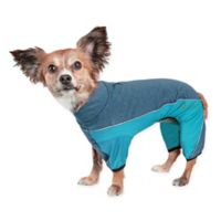 Pet Life® Active Chase-Pacer Heathered Extra-Small Dog Tracksuit in Blue