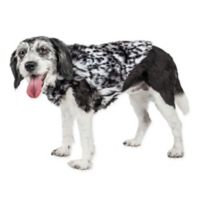 X-Small Luxe Paw Dropping Tiger Mink Fur Dog Coat in Black