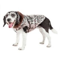 Small Luxe Furracious Cheetah Patterned Mink Fur Dog Coat in Pink