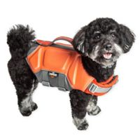 Tidal Guard Medium Dog Life Jacket in Orange
