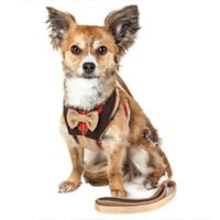 Pet Life® Medium LUXE Dapperbone 2-in-1 Mesh Adjustable Dog Harness in Brown