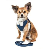 Pet Life® Medium LUXE Draper 2-in-1 Mesh Adjustable Dog Harness in Blue