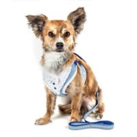 Pet Life® Medium LUXE Spawling 2-in-1 Mesh Reversed Adjustable Dog Harness in Blue