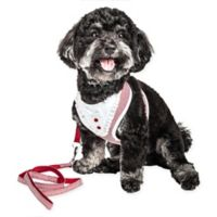 Pet Life® Medium LUXE Spawling 2-in-1 Mesh Reversed Adjustable Dog Harness in Red