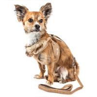 Pet Life® Medium LUXE Furracious 2-in-1 Mesh Adjustable Dog Harness in Khaki