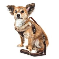 Pet Life® Medium LUXE Furracious 2-in-1 Mesh Adjustable Dog Harness in Brown