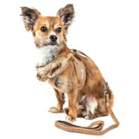 Pet Life® Large LUXE Furracious 2-in-1 Mesh Adjustable Dog Harness in Khaki