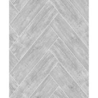 Graham & Brown Herringbone Wood Wallpaper in Dark Grey