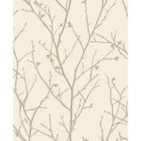 Graham & Brown Water Silk Spring Ivory Wallpaper in Taupe