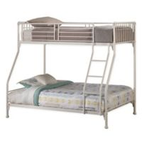 Brandi Twin Over Full Metal Bunk Bed in White