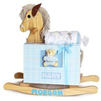 Silly Phillie® Creations 3-Piece Rocking Horse Gift Set in Natural/Blue