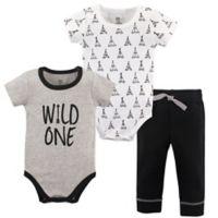 Yoga Sprout Size 18-24M 3-Piece Wild One Bodysuit & Pants Set