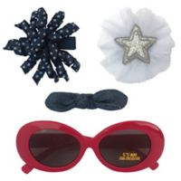 So 'Dorable™ 4-Piece Americana Hair Clip and Sunglasses Set