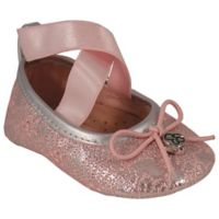 Jessica Simpson Oona Pink Lace 6-9M Ballet Shoe
