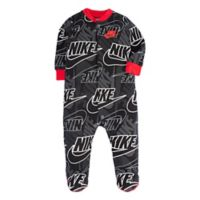 Nike® Futura® Size 9M Footed Coverall in Black