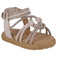 Jessica Simpson Raye Braided 9-12M Sandal in Silver/White