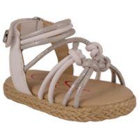 Jessica Simpson Raye Braided 6-9M Sandal in Silver/White
