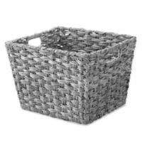 Whitmor Split Rattique® Large Tote Basket in Grey