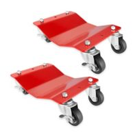 Professional Grade Quality Car Tire Skates in Red (2-Pack)