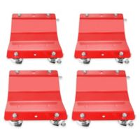 Professional Grade Quality Car Tire Skates in Red (4-Pack)