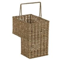 Household Essentials Corn Husk Stairstep Wicker Basket in Natural